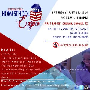 SETX Homeschool Expo, Southeast Texas Homeschool Expo